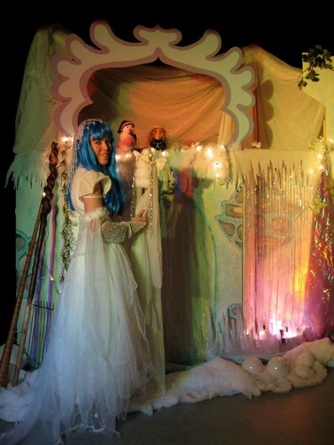 Donderelf poppentheater Sprookjes Winterfee